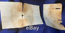 15 Civil War Soldier Letters Lot, 38th Reg NY Grand Review Drills Poor Cond