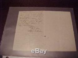 1800s Civil War Union General John Cochrane Hand Written Letter New York