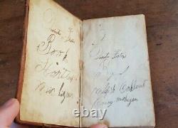 1834 Civil War carried New Testament American Bible Society Michigan KJV antique