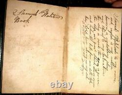 1848 HOLY BIBLE Leather POCKET American ANTIQUE Halstead CIVIL WAR 104th IN Co K