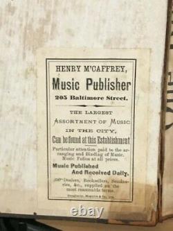 1850-60-70 Sheet Music Stephen Foster Henry McCaffrey Civil War Songs
