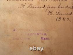 1851 Antique RARE! Pre-civil War Holy Bible Leather Relate to VT Politician