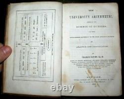 1857 CIVIL WAR Confederate SHILOH BATTLE Prize MATH BOOK 44th TN Scruggs SIMMONS