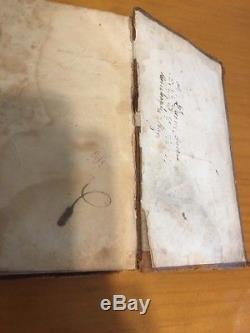 1857 Pre Civil War Bible NY Incredible Family History American Bible Society
