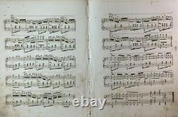 1860 Pre Civil War Baseball Sheet Music Live Oaks Rochester New York Lone Stars