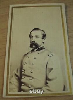 1860's'CDV Photo'CIVIL WAR Soldier OFFICER NEW YORKGray UNIFORM