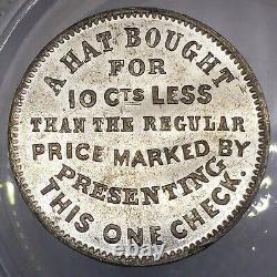 (1860's) J HAVENS NY630AIa/1e (R-6) HATTER NEW YORK CIVIL WAR TOKEN