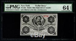 1861-1865 Scott's Nine Hundred U. S. Cavalry NY PMG 64 EPQ Civil War Sutler Scrip