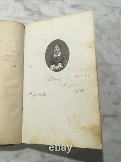 1861-1880 AUTOGRAPH BOOK withCDV Photos Gettysburg CIVIL WAR SURGEON Red Leather
