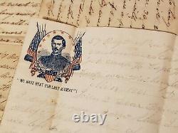 1861-62 New York 57th Reg Killed at Antietam Battle Civil War Letter Archive