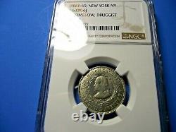 (1861-65) NEW YORK, NY 630K-6j BRIMELOW NGC-MS62 R8 -civil war token
