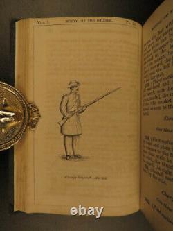 1862 1ed Infantry Tactics Civil War General Silas Casey Brigade Illustrated 3v