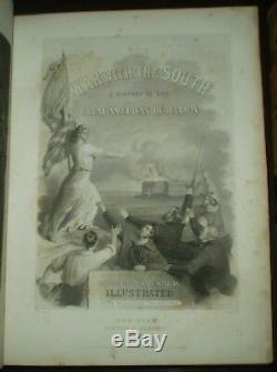 1862-5, 1st Ed, 3 Vol Set, THE WAR WITH THE SOUTH, AMERICAN CIVIL WAR, TOMES
