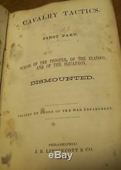 1862 CIVIL War Cavalry Tactics Manual Capt Charles Dey 3rd Ny Cav 1st Colored