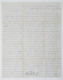 1862 Civil War Letter 14th New York Corporal Describes Regiment's Movements