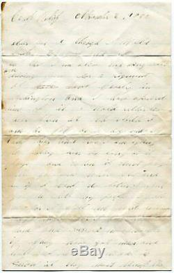 1862 Civil War Soldier Letter 11th New York Cavalry Wagon Driver Racist Language