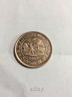 1862 M. L. Marshalls Variety Store Civil War Token Oswego N. Y