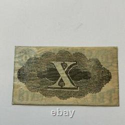 1862 New York 10c Obsolete Currency C. Delmonico Store Civil War Era