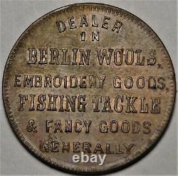 1862 Oswego New York M L Marshall's Civil War Store Card Token NY 695A-1a