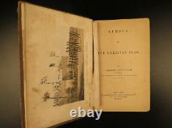 1862 Slave Trade Africa & American Flag Foote Voyages Civil War Slavery Plates