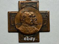 1863-1913 CIVIL War Reunion Medal New York Gettysburg General Meade & Lee