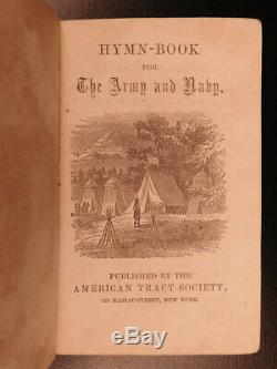 1863 1st ed Civil War Hymn Book for Army & Navy Americana SONGS Illustrated