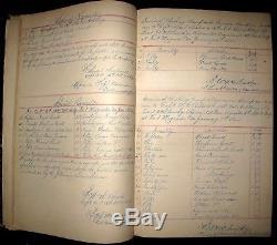 1863-65 CIVIL WAR Ledger 16th NY ARTILLERY 10th WVA Union GOODS Stores NAMES