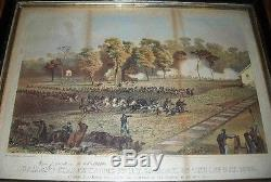 1863 6th New York Cavalry Charge Inscribed CIVIL War Brandy Station Virginia
