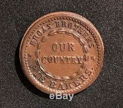 1863 BROAS BROTHERS PIE BAKERS New York, NY Civil War Token
