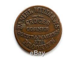 1863 Brooklyn New York Civil War Token Daniel Williams Grocer