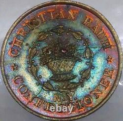 (1863) C RAUH NY630BH/2a (R-3) CANDY DEALER NEW YORK CITY CIVIL WAR TOKEN