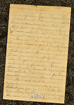 1863 Civil War 133rd NY Southeast Louisiana 26th Mass Letter