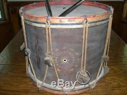 1863 Civil War Drum by William Tompkins and Sons Yonkers NY