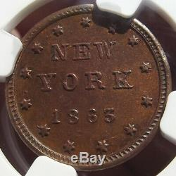 1863 Civil War Token Edw. Schaaf, New York, MS64 BN NGC, 630BK-3a, R5