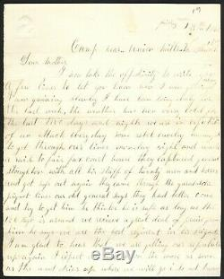 1863 Civil War Union Soldiers Letter Edgar Warner, 126th NY (DoW)