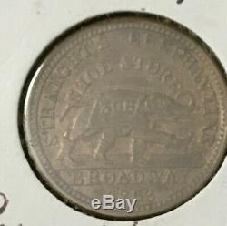 1863 Elephantine Shoes Albany Ny CIVIL War Token