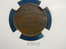 1863 Fredrick Rollwagen JR Civil War Token NGC MS 63 BN New York NY F-630b1-2a
