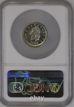 1863 G. PARSONS NY F-630BE-1e NGC MS-65 WHITE-METAL CIVIL-WAR STORE-CARD UNIQUE