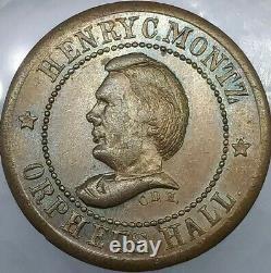 (1863) H C MONTZ NY630BC/1a (R-3) TOKEN OF WAR NEW YORK CIVIL WAR TOKEN