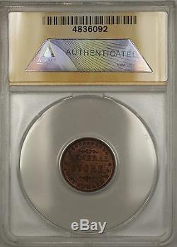 1863 NY-Fort Edward Harvey & CO Civil War Storecard Token 270A-1a ANACS AU-58