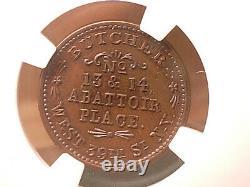 1863 New York NY Civil War- NGC MS-64 BN. Thomas White. F-630CH-1a. Lovely
