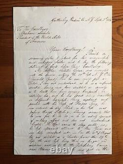 1864 Civil War Letter to Abraham Lincoln Requesting Pardon NY Regt Guttenberg NJ