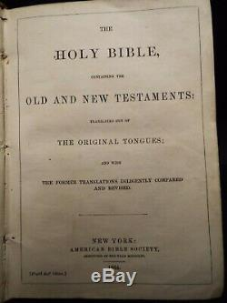 1864 Civil War Soldiers Bible. Pub American Bible Society, New York. Signed