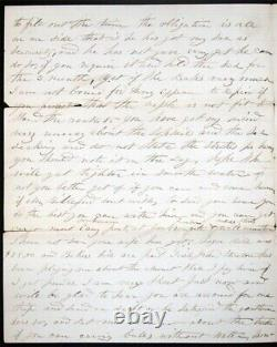 1865 CIVIL War Era Shipping Maritime Commerce Cape Fear Wilmington Nc Havana +