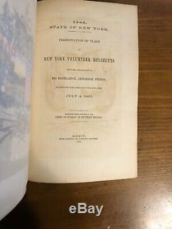1865 Presentation Of Flags Of New York Volunteer Regiments Civil War As Is