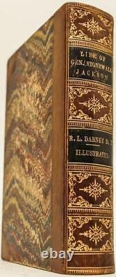 1866 1stED Life Of Gen. Stonewall Jackson Civil War CSA Illustrated leather Rare