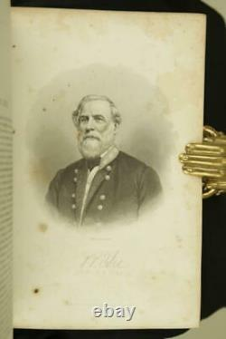1866 1stED The Lost Cause Confederate Version of Civil War Leather Illustrated