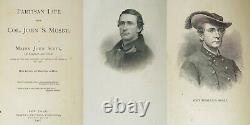 1867 Partisan Life Mosby Confederate CIVIL War Commandr Rangers 43 Engraving B37