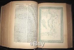 1874 HOLY BIBLE Civil War COL. URI CLARK Owned COMMENTARY Maps ANTIQUE Ithaca NY