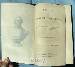 1878 Life of Confederate General Albert Sidney Johnston Civil War TEXAS 1st Ed